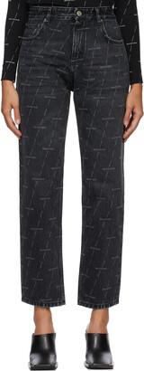 Balenciaga Black Regular Logo Jeans
