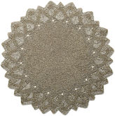Leila's Linens S/4 All Beaded Place Mat, Gold