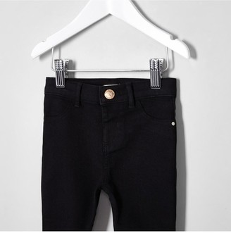 River Island Girls black Molly mid rise jeggings