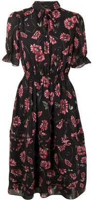 Adam Lippes Floral-Print Tiered Hem Dress