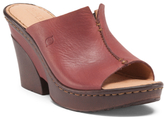 Clog Leather Wedges