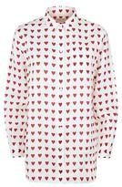 Burberry Heart Print Linen Shirt