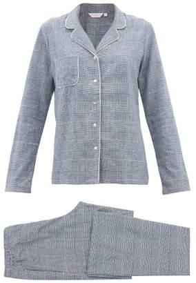 Derek Rose Kelburn Brushed-cotton Pyjamas - Womens - Navy White