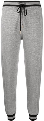 Liu Jo Glitter Effect Waffle-Knit Trousers
