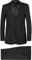 Burberry Black Slim-Fit Wool Suit