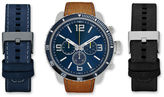GENEVA Mens Brown And Blue Interchangeable Strap Watch Set Amin5165S100-078