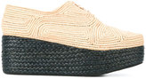 Robert Clergerie Pintom platform shoes - women - Raffia/Leather/rubber - 37.5