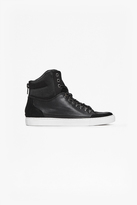 Fenton Leather High Top Trainers