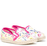 MonnaLisa butterfly print espadrilles - kids - Cotton/Canvas/rubber - 20