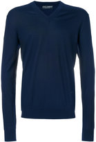 Dolce & Gabbana v-neck jumper - men - Cotton/Virgin Wool - 48