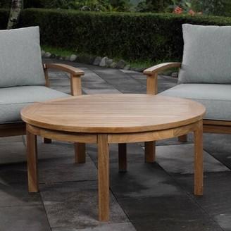 Beachcrest Home Elaina Solid Wood Coffee Table
