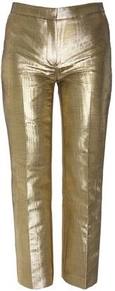 Alexander McQueen Moire Cigarette Crop Pants