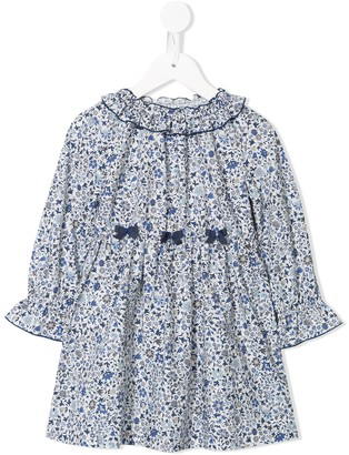 Familiar Ruffled Floral Print Dress