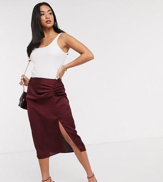 Vero Moda Petite pleat detail skirt