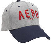 Aeropostale Mens Aero 1987 Colorblock Fitted Hat Gray
