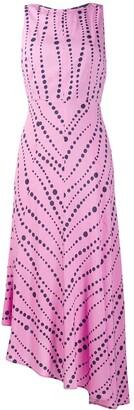 La DoubleJ printed asymmetric dress