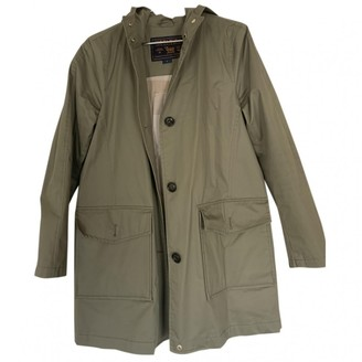 Woolrich Khaki Cotton Trench Coat for Women