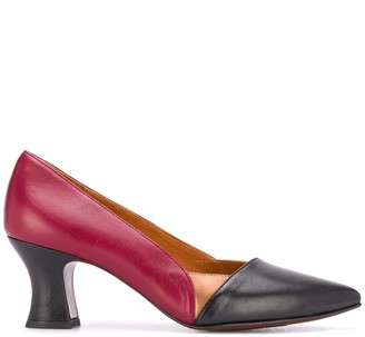 Chie Mihara Two-Tone Leather Pumps