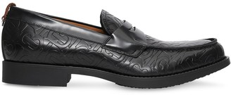 Burberry d-ring detail monogram loafers