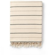 Luks Linen Dot & Dash Cotton Throw - Navy & Salt
