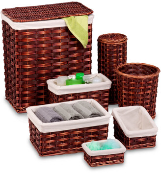 Honey-Can-Do 7Pc Hamper & Bath Set