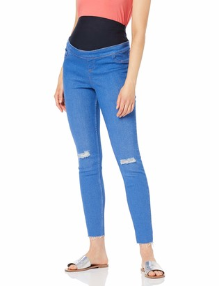 New Look Maternity Women's Bright Knee Rip Skinny Jeans