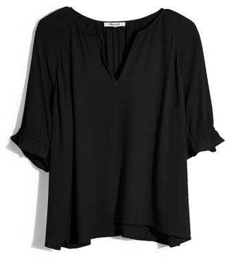 Madewell Notched Ruffle Cuff Top