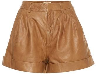 Etoile Isabel Marant Isabel Marant, étoile Abot high-rise leather shorts