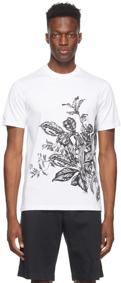 Thumbnail for your product : Ermenegildo Zegna Couture White Floral Print T-Shirt