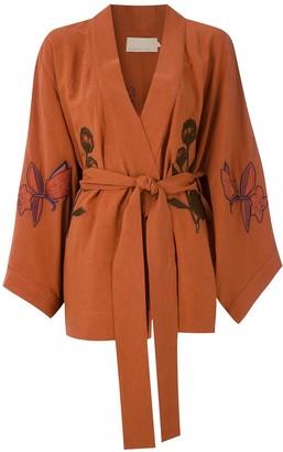 LE SOLEIL D'ETE Valerie embroidered kimono