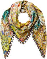 Paisley Print Cotton-Silk Scarf