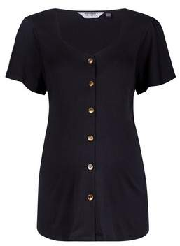 Dorothy Perkins Womens **Maternity Black Sweetheart Button Top, Black