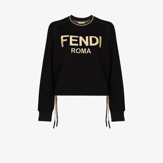 Fendi Roma Bow Cotton Sweatshirt