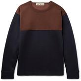Marni - Oversized Colour-block Virgin Wool-blend Sweatshirt