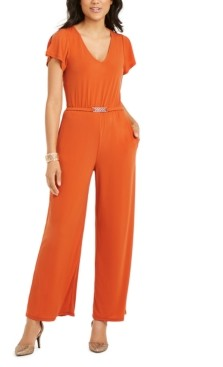 Thalia Sodi Belted Jumpsuit, Created For Macy's