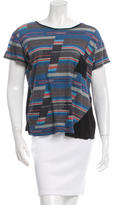 Proenza Schouler Striped Short Sleeve T-Shirt
