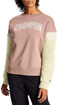Champion Womens Crew Neck Sherpa Sweatshirt