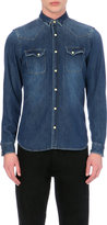 The Kooples Faded Effect Denim Shirt