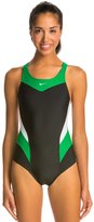 Nike Swim Women's Victory Color Block Power Back Tank One Piece Swimsuit 48192
