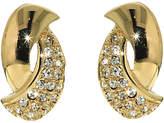 Finesse Swarovski Crystal Twist Clip-On Earrings