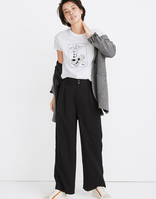 Madewell Petite Drapey Pleated Wide-Leg Pants