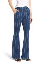 Tinsel Stripe High Waist Flare Jeans