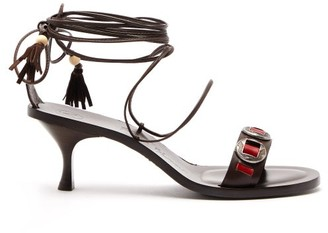 Álvaro González X Kim Hersov Kasa Leather Sandals - Dark Brown