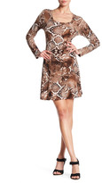 Karen Kane Snake Print A-Line Dress