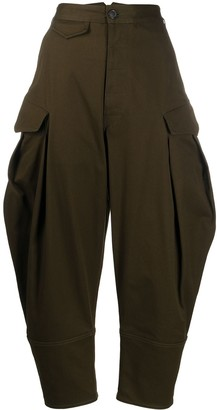 DSQUARED2 Flap-Pocket Cocoon-Leg Trousers
