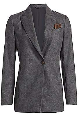 Brunello Cucinelli Women's Stretch Wool Jacket & Pocket Square