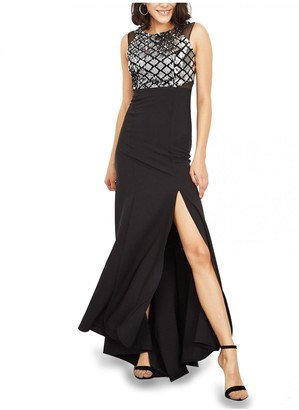 Mimi + Alice Jenny Sequinned Maxi Evening Gown