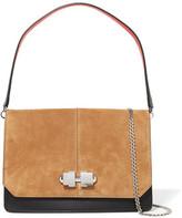 Carven Leather And Suede Shoulder Bag