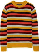 The Elder Statesman Picras Striped Cashmere Sweater - Mustard