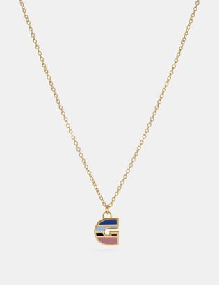 Coach 80'S Retro Alphabet G Charm Necklace